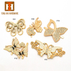 Manufacturers fashion bag decorative butterfly gold plated handbag accessory for lady wallet