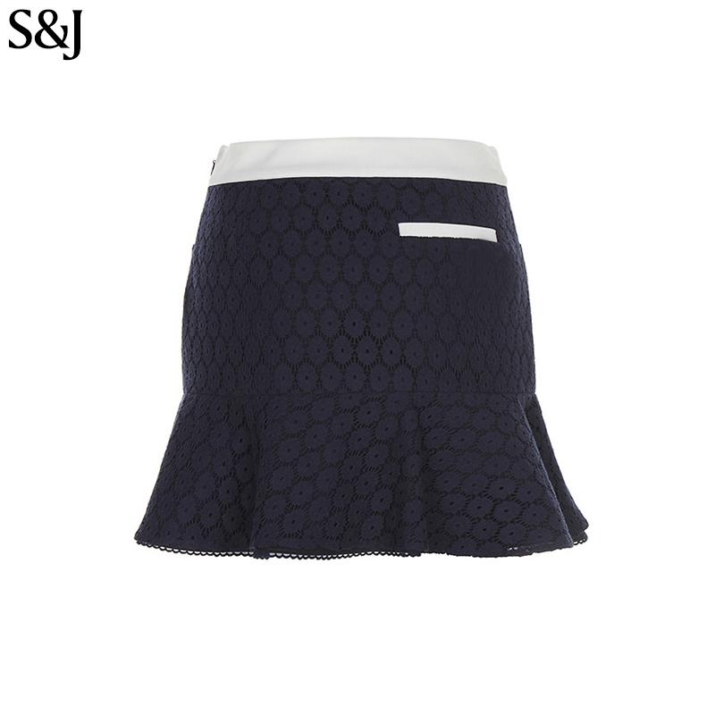 32490e4b7d Las mujeres de impresión personalizado plisado tenis Golf Falda corta  directo de encaje falda blanca