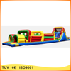 commercial cheap inflatable slide kids obstacle course for sale