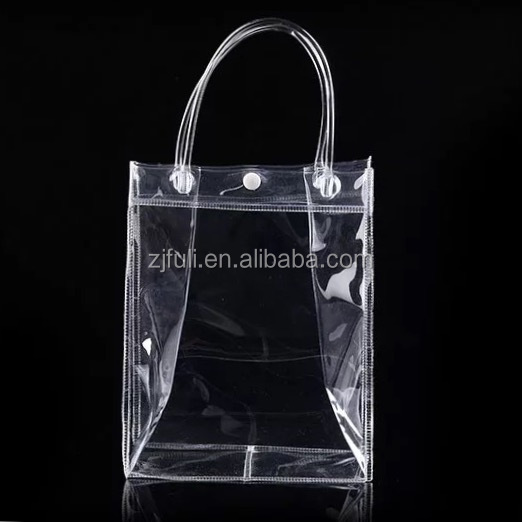 Clear Vinyl Pvc Zipper Bags With Handles Plastic Handle Bag Product On
