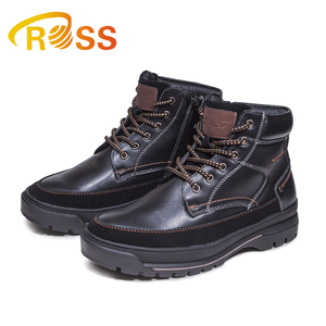 Kids PU Leather Boot High Top Ankle Shoes With Zipper Thick Keep Warm Boy Leather Ankle Boots