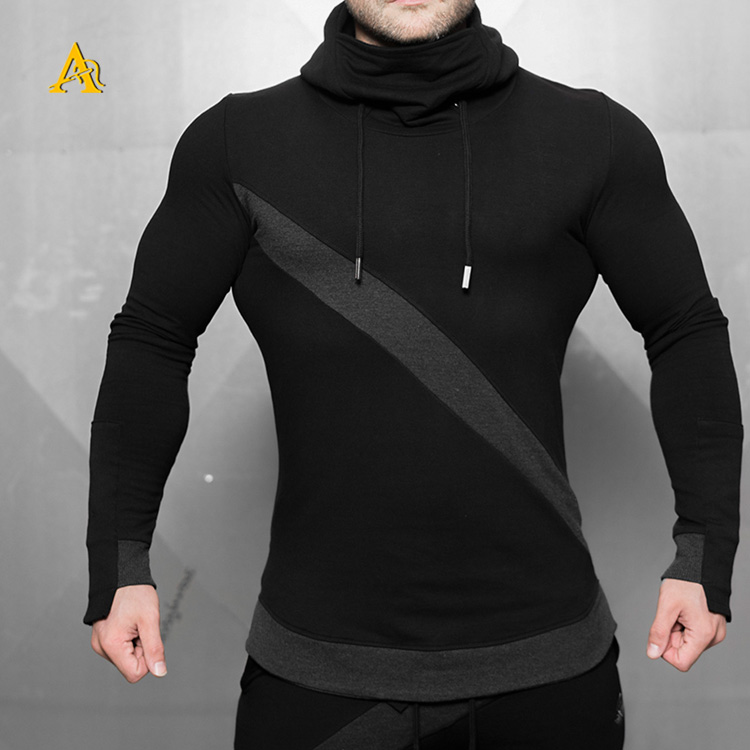 Maßgeschneiderte Männer Plain Hoodies Fitness Training Sweater Hoodies