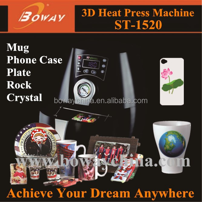 Boway service CE Mini 3D Sublimation Vacuum cell phone case printing machine