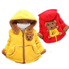 Winter Baby Snowsuit Christmas Cute Baby Man Girls Cotton Cartoon Coat Baby Thicken Faux Fur Hooded