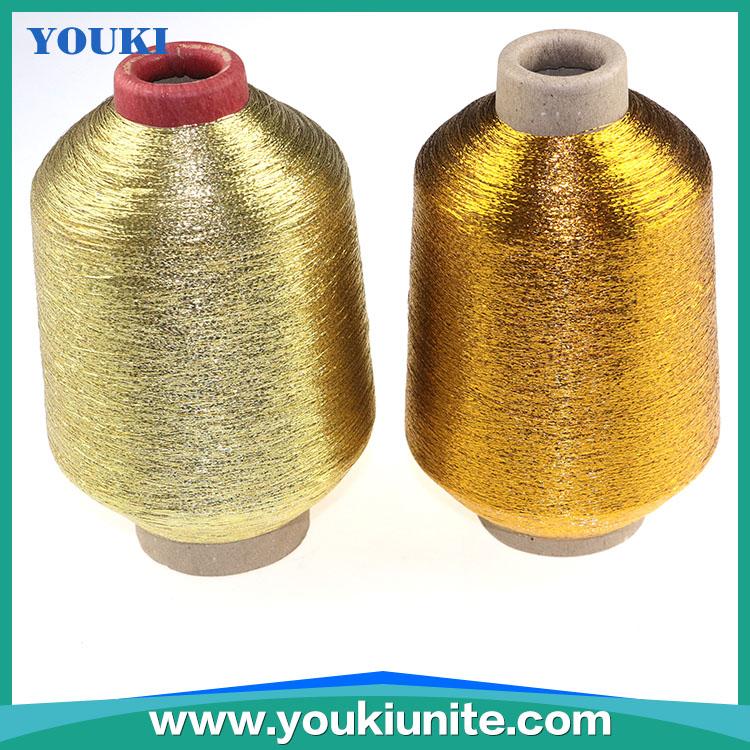 Golden polyester metallic yarn /metallic thread for knitting,weaving