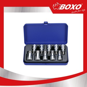 "BOXO Car Repair Tool BXM42HB-10 10pcs 1/2"" Dr. Hex Bit Socket Set"