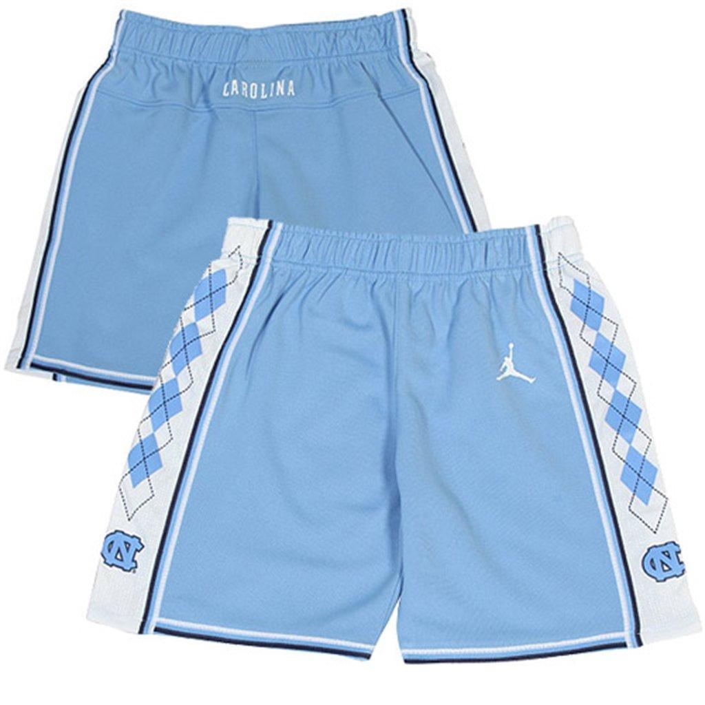Youth Carolina Blue Houndstooth Shorts Sublimated Shorts Blue North Carolina Shorts