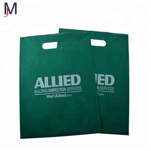 new type of carry bag hdpe poly bags green shopping bag with custom logo