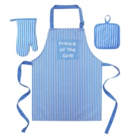 Kitchen Apron Set Supplier Custom Cheap Polyester Aprons For Promotion BBQ Kids Apron Set