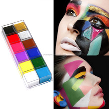 Hot Sale 12 color Face and Body Paint Kit Nontoxic Face Paint Water Based Face Painting
