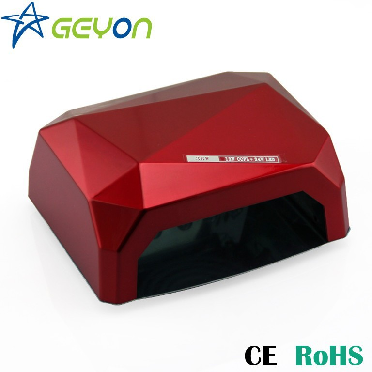 36W Diamond CCFL+LED UV Gel Curing nail Lamp For Nails 36w ccfl lampada led chiodo per unghie gel