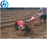 Hongteng farm machinery mini rotary tiller with mini tiller cultivator parts/hand ploughing machine