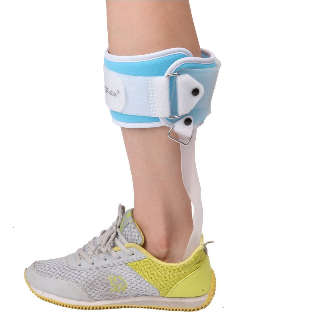 YK Care® AFO Ankle Foot Drop Brace Orthosis Orthopedic Shoe Foot Supporting Feet Stroke Hemiplegia Rehabilitation (S: suitable for foot 8.4-9.2 inch (21.5-23.5cm), Right)
