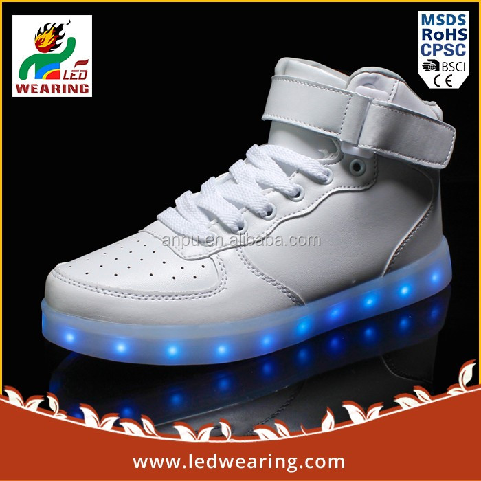 Anpu led wearing led sneakers basket led adult led light shoes