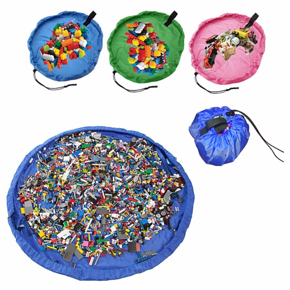 150cm Kids Baby Play Mat Large Storage Bags Toys Organizer Blanket Rug Boxes фото