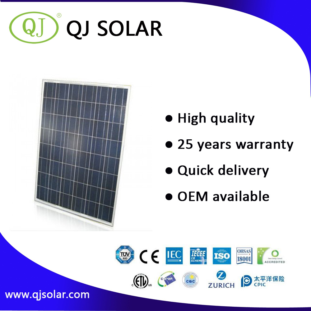 Ningbo QJ solar panel pv solar panel module (1w to 300w)