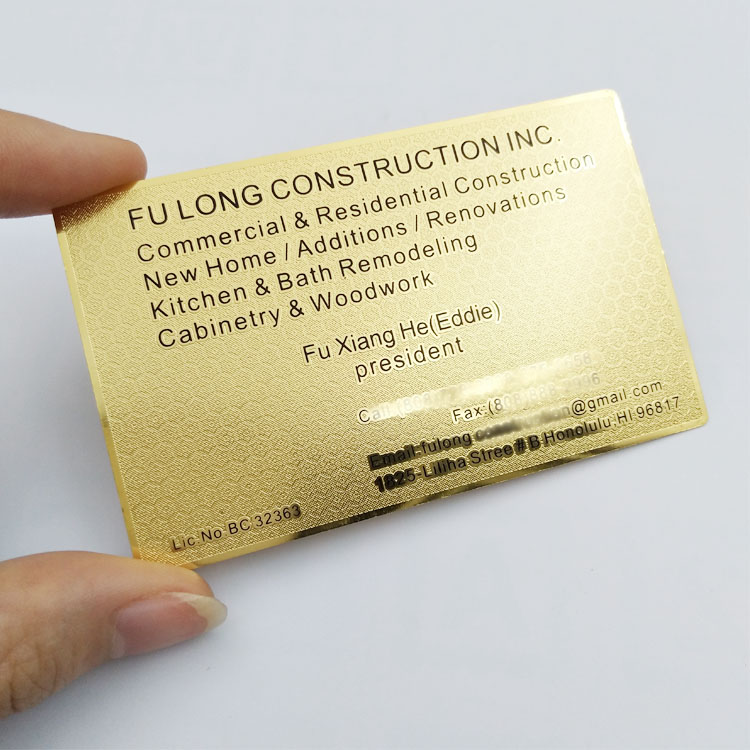 Plating Gold Metal Business Card, Plating Gold Metal Business Card ...