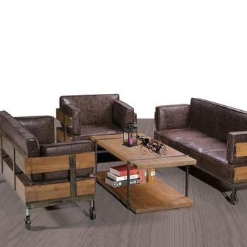 Brown Color Iron Metal Bar Sofa Furniture Set Designs Living Room Sofa Set  3 Seaters + 1 Table Office Reception Sofa Set - Buy Bar Furniture,Bar Sofa  ...