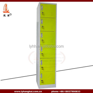 Fashion Office Furnitue wall mirrors Closet 6 compartment storage locker cabinet for workers
