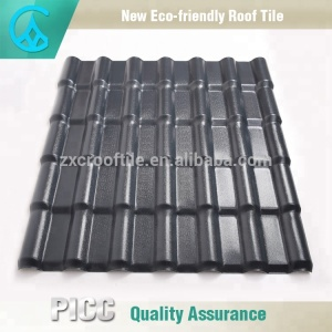 Waterproof,Fireproof,Light Weight Royal Construction Material Grey Synthetic Slate Roof Tile