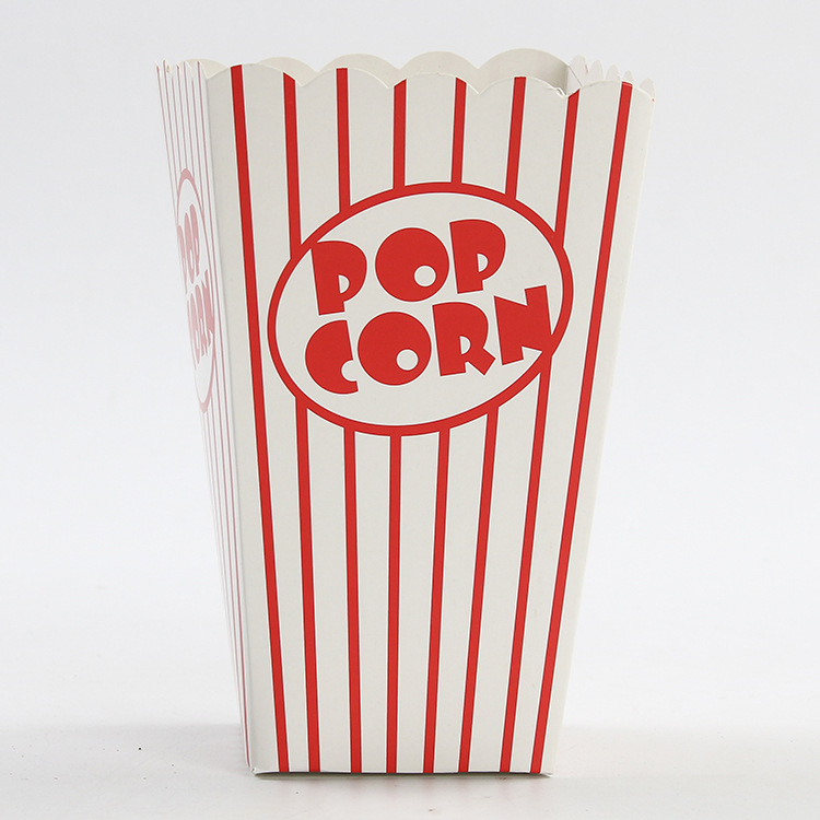 Eco-friendly paper popcorn container box manufacturer