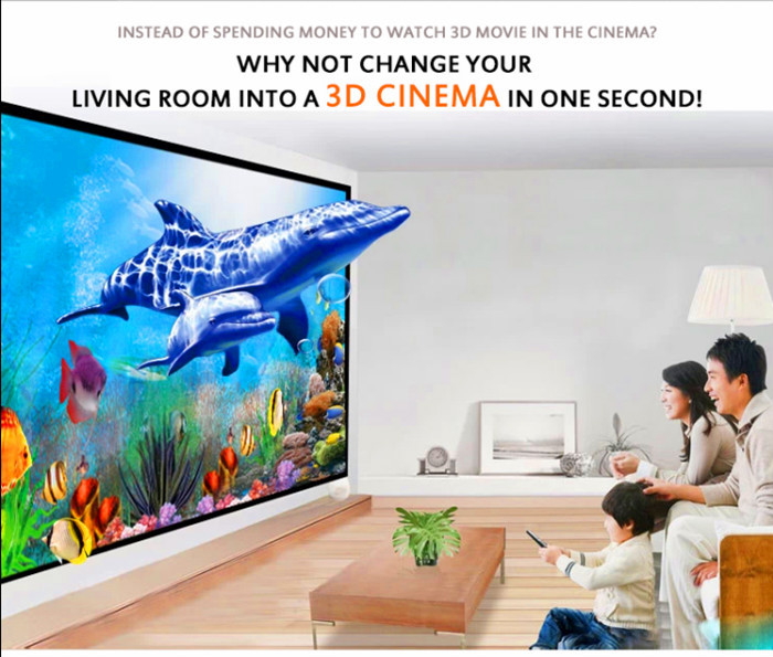 led home theater projector 1080P hd home new pattern projector built-in android