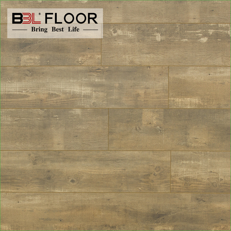 China BBL12mm AC3 factory direct pressed bevel waterproof kitchen laminate flooring