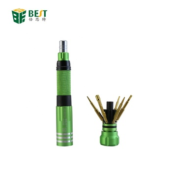 BST-8927B 6 in 1 Special Retractable Mini Single Cordless Magnetic multifunction mini screwdriver for iphone7 iphone4 PS4 3