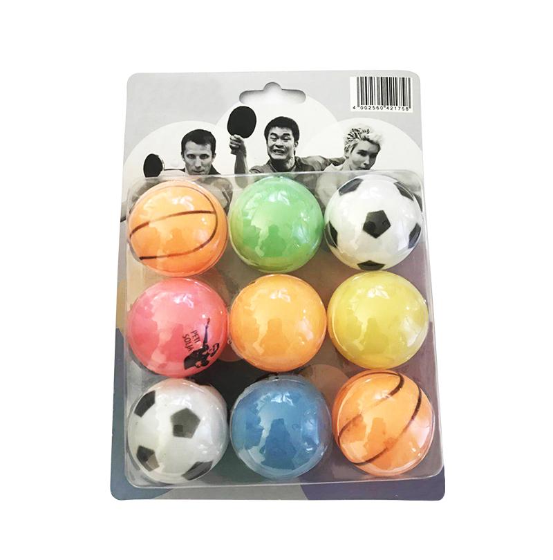 Trending football soccer basketball style  beer ball 40mm custom logo  table tennis balls