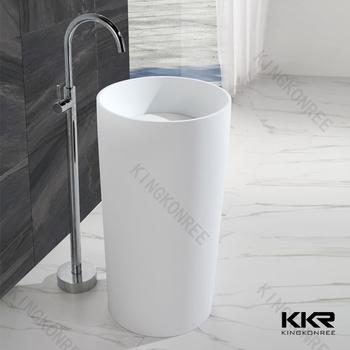 resin stone modern pedestal polystone sink - Modern Pedestal Sink