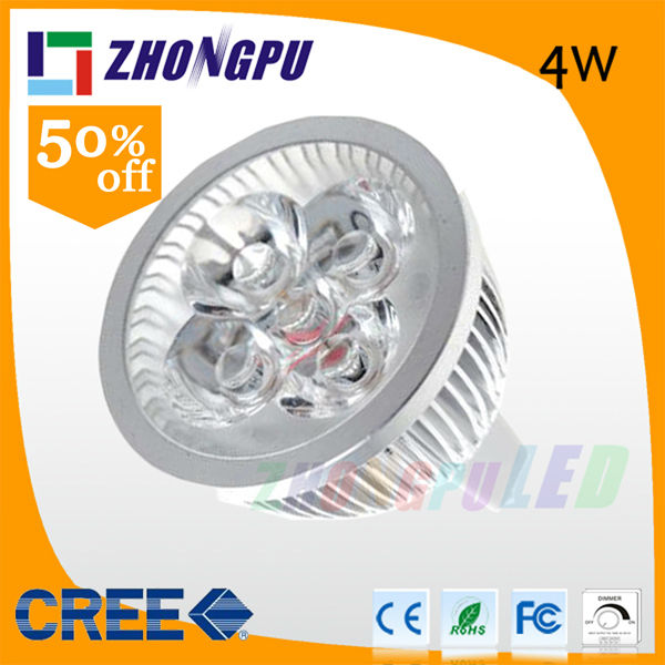 MR16/GU5.3 4W 4 LED 320 Lumen 3000K-3500K Warm White Light LED Spotlight Bulb 12V/220V 230V Dimmable (Replace 28w Halogen Bulb)