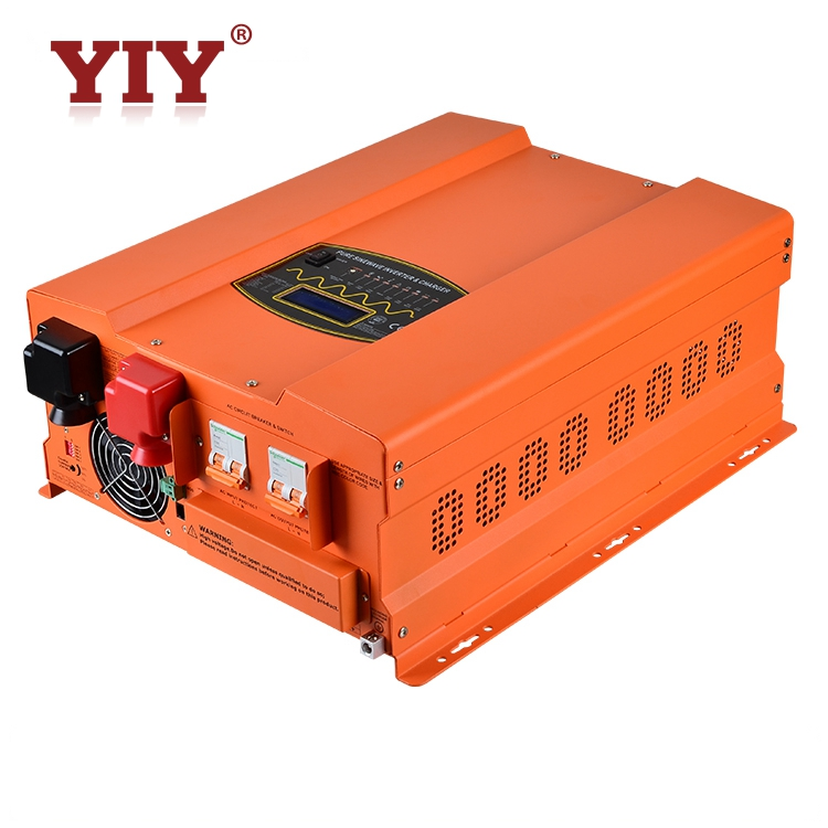 hybrid off grid solar power supply inverter 10000w dc 24v to ac 230V with 60A solar charge controller