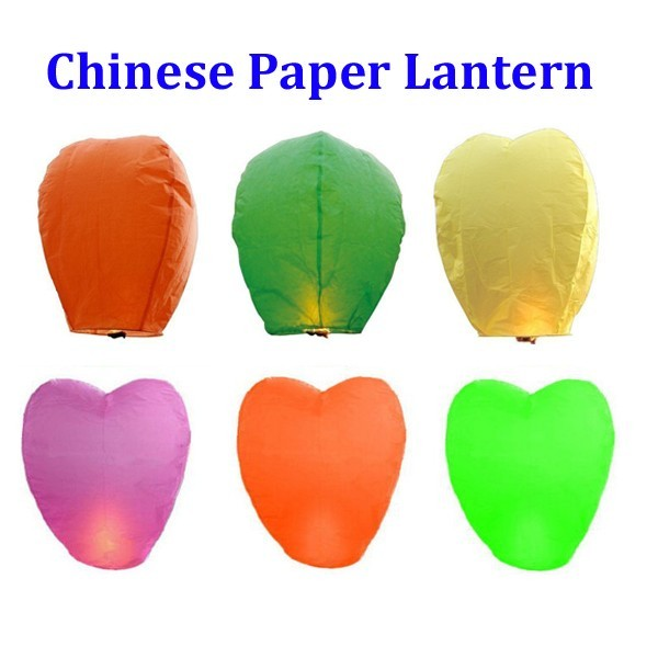 Happy Christmas Biodegradable Sky Flying Paper Lantern for Prayer