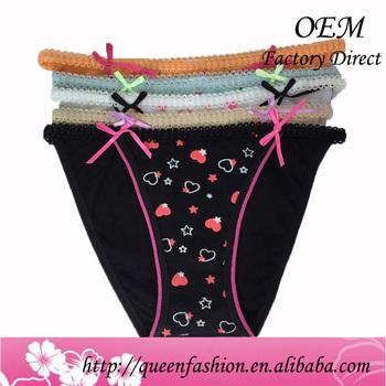 ee2be597d Top sale comfortable female underwear ladies cotton panties sexy bikini  silk underwear with new design