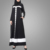 New Fashion Border on Flick Abaya Dress Muslim Kaftan Islamic Clothing Dubai Abaya