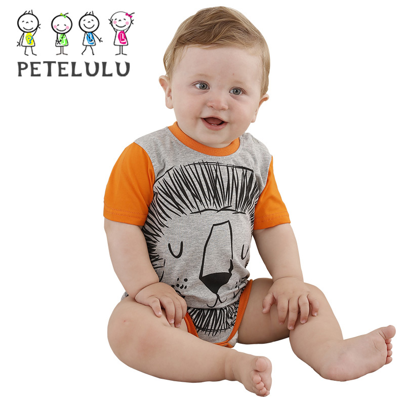 Baby Boys Lion Print Wholesale Newborn Baby Clothes Made In China