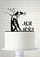 Bride and Groom Silhouette Acrylic Cake Topper Mr and Mrs Wedding Cake Topper
