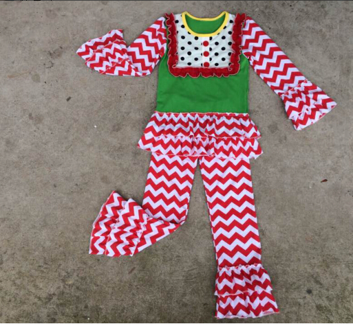 Fashion 2016 Cute Children Christmas Tree Clothes Sets Online Baby ...