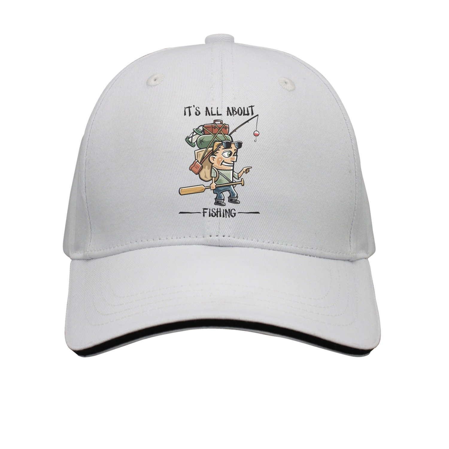 SJSNBZ Its All About Fishing Unisex Adult Mens Funny Snapback Caps Womens Snapback  Caps 24b93f220ed