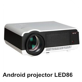 Wireless connect to iphone ipad native full hd led android for Led projector ipad