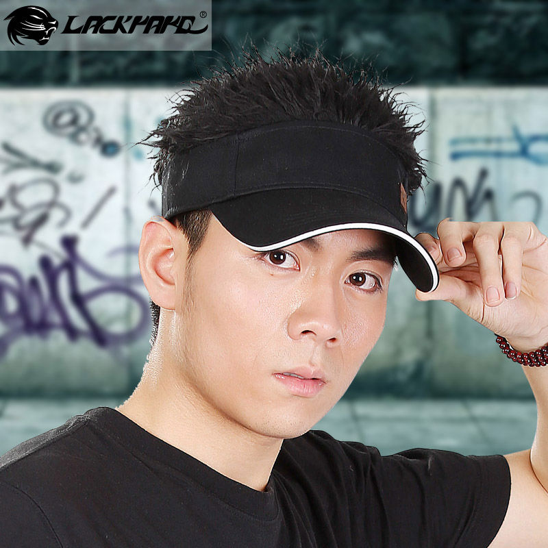 Cosplay Fashion Fake Hair Sports Visor Cap And Hat - Buy Sports Cap ... 0e3c8252369