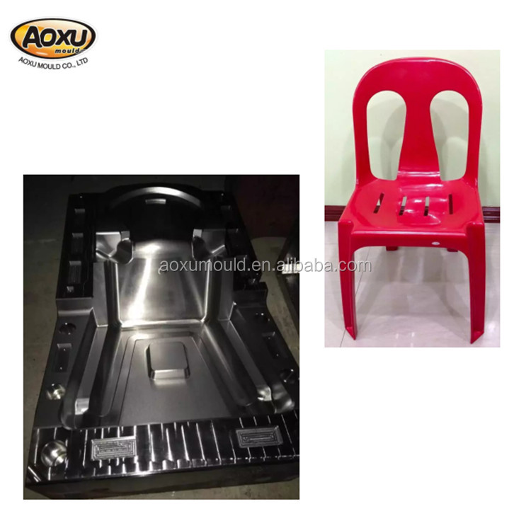 Making good quality plastic red color chair mould