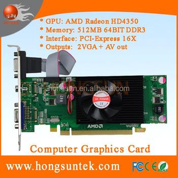 Ati Radeon Hd4350 512mb Ddr3 Pci Express 16x Av+dual Vga Graphics Card -  Buy Hd4350,Ati Hd4350,Graphic Card Product on Alibaba com