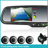 4.3'' high brightness rear view mirror monitor with auto dimming / digital compass/ parking sensors/bluetooth car handsfree kit