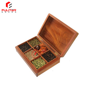 Hot Sale Design Wooden Spice Boxes Wholesale