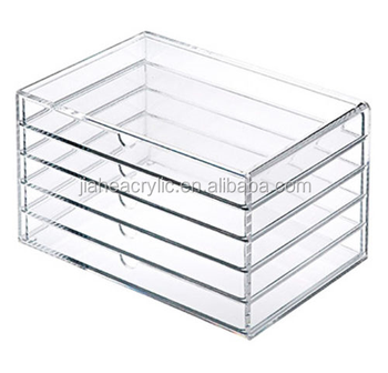 Delightful Clear Acrylic Storage Box New 5 Drawers Clear Acrylic Makeup Cosmetic  Jewelry Multipurpose Organizer Box