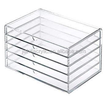 Clear Acrylic Storage Box New 5 Drawers Makeup Cosmetic Jewelry Multipurpose Organizer