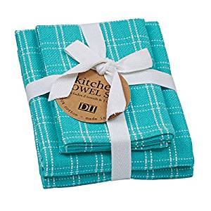 Buy 3 Piece Kitchen Towel Set Blue Plaid Includes 2 Towels 1 Dish Cloth 100 Cotton Fun Gift Idea Christmas Birthday Turquoise White Blue Teal In Cheap Price On Alibaba Com