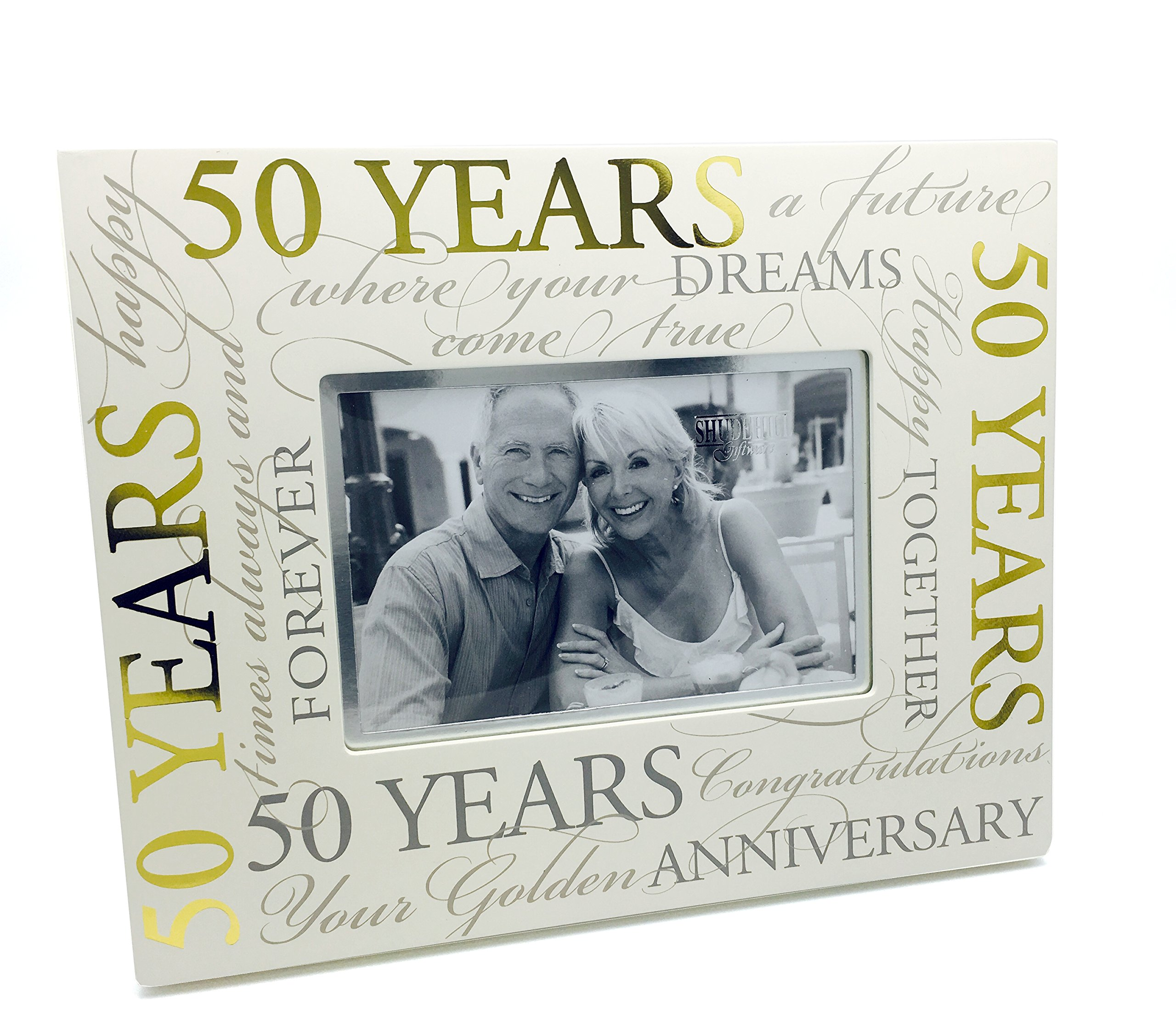 Buy 50th Golden Wedding Anniversary Photo Frame Gift With Scripts ...