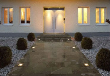 Waterproof outdoor garden lighting recessed